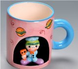 Hot Sale Personalized Cartoon 3D Printed Ceramic Animal Cups Mugs