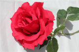 Silk Red Rose Artificial Flower Single Stem High Quality