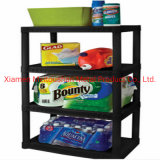 4-Shelf Unit Display Rack for Supermarket Free Standing Custom