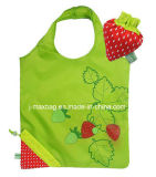 Foldable Shopper Gift Promotion Fashion Nice Tote Strawbberryfashion Fruits Reusable, Lightweight, Grocery Eco-Friendly Shopping Bag