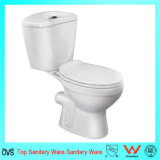 Porcelain White Color Two-Piece Toilets for Bathroom