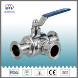 Sanitary Stainless Steel SS304/SS316L Clamped Three-Way Ball Valve