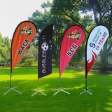 Wholesale Custom Beach Flag Stand Feather Wind Bow Flag Outdoor Advertising Sail Banners