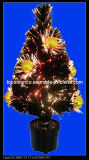 Fiber Optic Christmas Tree Decorated with Balls
