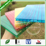 100% Virgin Ge / Bayer 8mm Twin-Wall Colored Cheap PC Roof Panel