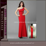 Red One Shoulder Evening Dress Party Wedding Dresses (TBLS752)