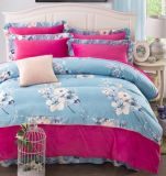 Flannel Fleece+ Fabric Bedding Set Warm Soft for Autumn and Winter