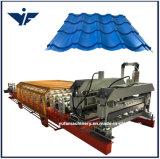828 Automatic Hydraulic Cutting Glazed Tile Roll Forming Machine