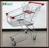 Supermarket Shopping Cart Zinc Plated with Clear Coating Mjy-80ah2