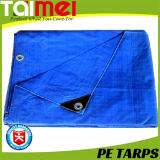 High Quality PE Tarpaulin/Tarps with PP Rope Reinforced and Aluminum Eyelets Every One Meter