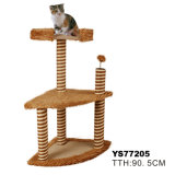 Luxury Plush Sisal Cat Tree, Pet Product (YS77205)