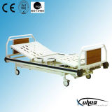 Triple Cranks Hi-Low Adjustable Hospital Manual Healthcare Bed (A-7)