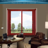 Aluminum Sliding Window with Wooden Color