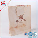 Nature Brown Printed Shopping Paper Bags with Nature Hemp Cord Handle