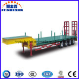 Factory Direct Price 4 Axle 80t-100t Low Flatbed/Lowboy Semi Truck Trailer with Column for Sale