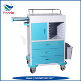 ABS Movable Hospital Nursing Cart with Case History Tray