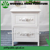 Pine Wood White Color Bedroom Cabinet