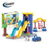 Kids Wholesale Educational Plastic Toys Paradise Slide Swing Building Blocks