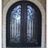 Made in China Decorative Front Wrought Iron Door (UID-D059)