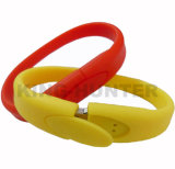 Bulk Custom Silicone Bracelet Wrist Band USB Stick Drives