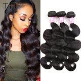 Cheep 9A Grade 100% Malaysian Virgin Remy Human Hair Weave Body Wave Hair Weft Natural Black Remy Hair (TFH18)
