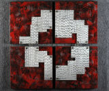Abstract Rock Red Heavy Metal Texture Aluminum Wall Craft