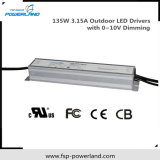 Outdoor Waterproof Constant Current Dimmable LED Power Supply 135W 3.15A