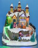 "8"" LED Toy Shop with Rotating Figures and 8 Songs Music for Christmas Decoration"