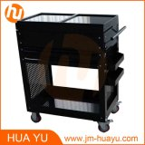 Two Drawers Black Steel Sliding Top Panels Tool Cabinet Service Cart in Garage and Factory