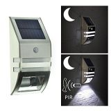 LED Solar Powered Wall Lanscape Light Waterproof Garden Path Fence Yard Lamp