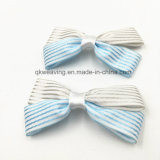 Strip Pattern Satin Ribbon Bow Decoration Bow for Garment Wedding Ribbon Bow