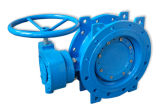 Double Eccentric Double Flange Butterfly Valve with Gearbox BS5163