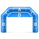 Inflatable Arch Inflatable Archway Template with Vector Image