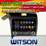 Witson Android 5.1 Car DVD GPS for KIA Cerato 2013with Chipset 1080P 16g ROM WiFi 3G Internet DVR Support (A5509)