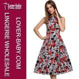 Woman Wholesale Garments Dress Casual Retro Stye (L36108-1)