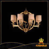 Classical Brass with Lampshade Pendant Chandelier (FD-0710-8)