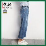 New Fashion Design High Quality Women′s Casual Straight Jeans