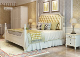 Antique White Bedroom Furniture Solid Wood Folding Double/Single Bed