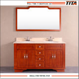 Bathroom Vanity Manufacturer Wholesale Antique Solid Wood Construction Bathroom Vanity with Marble Top