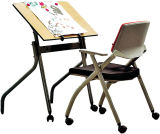 MDF Wooden Drawing Table for School Furniture (CT-38)