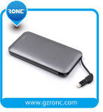 Full Capacity 8000mAh Card Power Bank with Built-in Cable Andriod/Ios