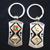 Souvenir Maldives Spinner Dice Metal Key Chain Ring