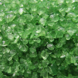 Green Color Clear Terrazzo Colored Glass Chips