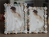 Wholesale Custom Bride Metal Picture /Photo Frame with Lace for Decoration (003)