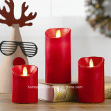 Battery Powered Dancing LED Wax Candles Moving Flameless LED Candles Light
