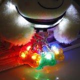 Pet Dog LED Pendants Collar Flash Bone Safety Circular Clip Pet Products