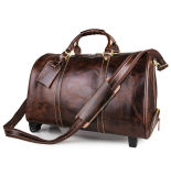 High End Retro Style Genuine Leather Travel Bags Suitcase