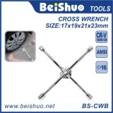 Auto Tools Universal Anti-Slip Lug Wrench, 4-Way Cross Wrench