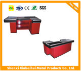 Supermarket Checkstand Counter Factory Wooden Checkout Counter for Retail Store Fashion
