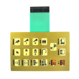Silk Printed Flexible Membrane Switch Keyboard for Education Equipment
